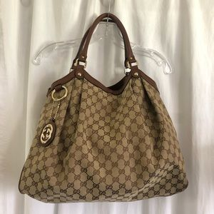 Gucci large sukey tote brown!